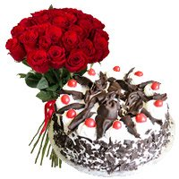 Valentine's Day Cake in Bangalore with Valentine's Day Flowers to Bangalore